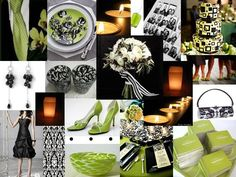 The Perfect Palette: {Contemporary Sophistication}: Chartreuse, Black & White