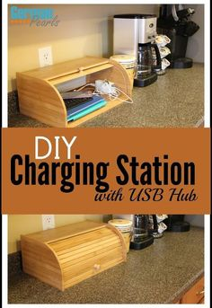 Organize all of those cords and devices and keep them tidy with this simple DIY charging station.