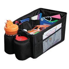 Re-pinning, this came today and I love it! Fits perfectly between my front car seats, and organized all the junk Ive been stuffing in the doors. Great buy! ----Travel Pal Car Seat Organizer - One Step Ahead Baby