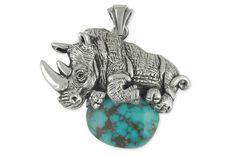 Rhinoceros Pendant J
