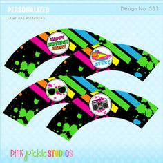 HIP HOP DANCE Party Cupcake Wrappers by PinkPickleParties on Etsy, $6.00