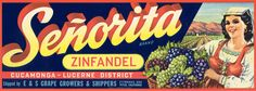 Vintage label from Cal Poly Pomona  collection.