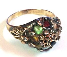 18k and Silver THAI PRINCESS RING  Natural Quality by Goddessandco, $350.00