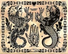 Tattoo Old School Black Panter Traditional Tattoo Painting, Traditional Tattoo Design, Traditional Tattoo Flash, Berg Tattoo, 16 Tattoo, Tattoo Ink, Samoan Tattoo, Polynesian Tattoos, Hand Tattoos