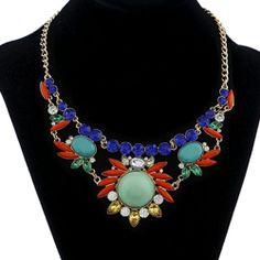 Hot Selling Women New Mixed Style Bib Chunky Statement Crystal Choker Necklace | eBay