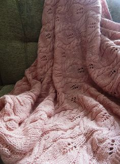 blush pale pink cable knit throw blanket cozy warm