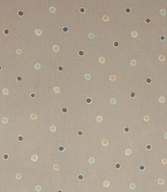 Muted tones in this seaside spot oil cloth PVC  http://www.justfabrics.co.uk/curtain-fabric-upholstery/mist-pvc-seaside-spot-fabric/
