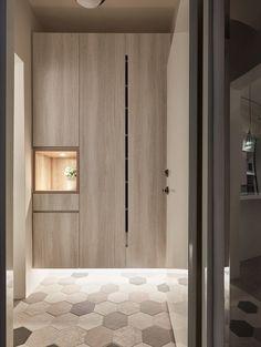 Jiang House by Life Creator Design Design Hall, Entrance Design, Wardrobe Door Designs, Closet Designs, Shoe Cabinet Design, Fitted Bedroom Furniture, Modern Apartment Design, Bedroom Cupboard Designs, Home Decor Kitchen