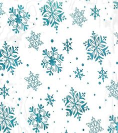 FROZEN ELSA Joann Fabric Lets Pretend TM Special Occasion Fabric- Foiled Snowflake Organza Teal