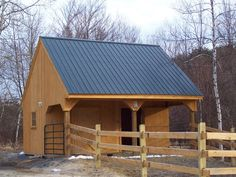 Small Horse Barn Plans | built a small two stall w/ loft. It would be easy to incorporate the ...