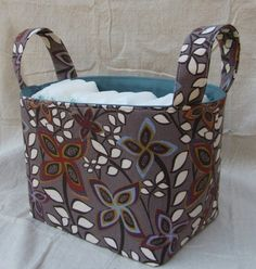 Household Storage Caddy – Free Tutorial and Pattern | PatternPile.com - Hundreds of Patterns for Making Handbags, Totes, Purses, Backpacks, Clutches, and more.