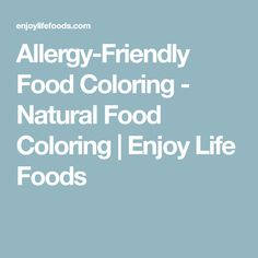 Allergy-Friendly Food Coloring - Natural Food Coloring | Enjoy Life Foods