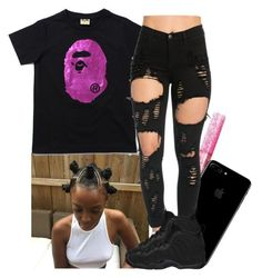 """""""?"""" by xtiairax ❤ liked on Polyvore featuring NIKE"""