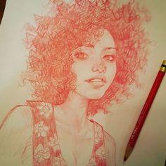 "melmilton: "" This Mornings Portrait Sketch Dooks.Keep on keepin on! Portrait Sketches, Drawing Sketches, Art Drawings, Sketching, Character Drawing, Character Design, Illustrations, Illustration Art, Estilo Anime"