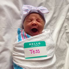 The Journey of Parenthood...: Tess Hospital Stay {Day 2}