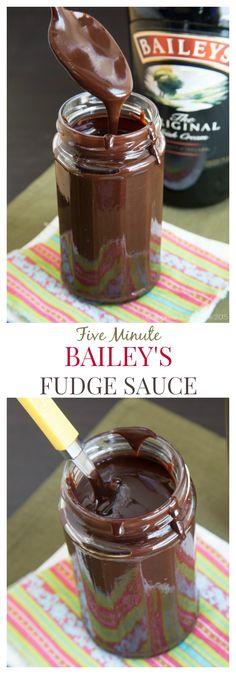Five Minute Baileys Fudge Sauce Pinterest (make with any flavor coffee creamer)