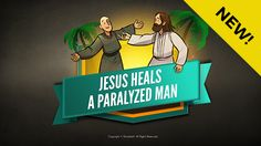 Luke 5 Jesus Heals The Paralytic Kids Bible Lesson: This Sharefaith Kids lesson tells the amazing story of Matthew 9:1-8, Mark 2:1-12 and Luke 5:17-26. In this story four friends will stop at nothing to make sure their paralyzed friend is healed by Jesus. After tearing a hole in the roof and lowing their friend down Jesus miraculously heals the paralytic man. With amazing teaching content like Q&A, memory verse and big idea this Jesus heals the paralytic lesson is not to be missed.