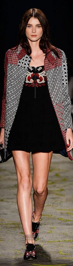 Patricia Bonaldi ~ Fall Mini Dress w Coat, Black/Grey  2015