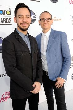 Mike Shinoda and Chester Bennington of Linkin Park at the 2012 Billboard Music Awards