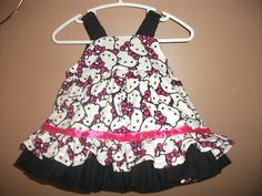 dress I made for my granddaughter Natalie.  The basic pattern (found on Craftsy) doesn't have the double ruffle.