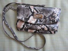 Nine West Faux Python Snake Embossed Clutch Wristlet Small Handbag Purse  #NineWest #ClutchPurse