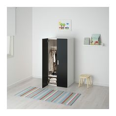 STUVA Combinaison rangement portes - blanc/noir - IKEA