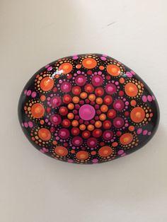 Mandala Stone Hand Painted Rock dot painting meditation