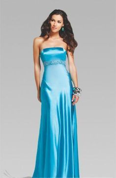 Long Strapless Evening Dresses