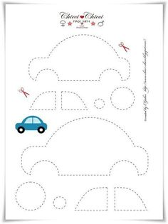 Free printable Car Template (for quiet book)