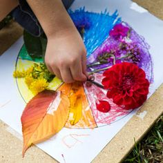 """""""Where art and nature meet, a sense of wonder is sparked."""" Activity on color in nature."""