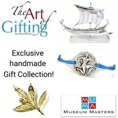 MuMa.gr is here to propose to you exclusive handmade gift proposals in various materials, silver, brass, silver-plated, gold-plated items. Our source of inspiration is ancient Greek art and civilization and our love in creating art items.