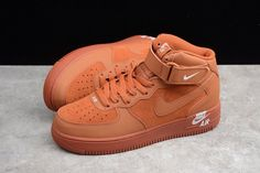 buy popular d5e79 11b9e Nike Air Force 1 Mid Orange 315123-207 Sport Shoes 315123-207