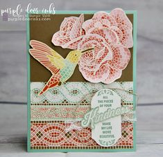 Picks from My Pals Stamping Community! (Mary Fish, Stampin' Pretty The Art of Simple & Pretty Cards) Mood Card, Stampin Pretty, Mosaic Madness, Stampin Up Catalog, Bird Cards, Handmade Birthday Cards, Card Making Inspiration, Pretty Cards, Simple Art