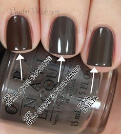 OPI How Great Is Your Dane? Comparison | Peachy Polish Get Nails, Love Nails, How To Do Nails, Pretty Nails, Hair And Nails, Fancy Nails, Essie, Shellac Nail Art, Opi Nail Colors