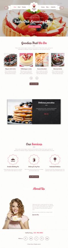 #Cake is a high-end WordPress theme built with great care. It is very clean, modern and trend template. Each user can find all the functionality he needs. #website #template