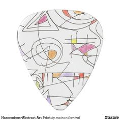 Harmonious-Unique Abstract Guitar Pick with Geometric Pattern