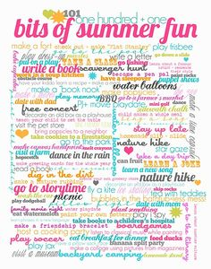 101 Summer fun ideas!