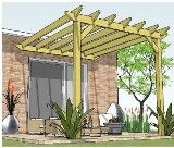 Copyright image: Attached lean-to pergola plans.