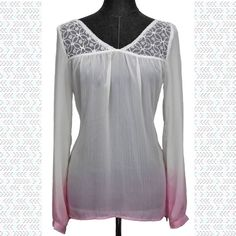 Boho Sheer Ombré Blouse Gorgeous and airy, this top is perfect for spring and summer. Pair it with a pair of jean shorts for the perfect summer look! Camilla Tree Tops Blouses