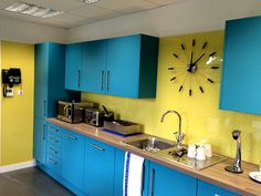 #kitchen #splashbacks from Alpha Sign Systems. Plexiglass panels with reverse #printed #graphics #office #signs