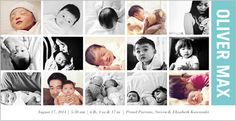 Special Moments Boy Birth Announcement, shutterfly.com