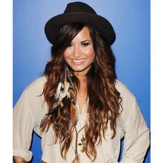 Demi Lovato's Hair Evolution ❤ liked on Polyvore featuring hair and demi lovato