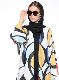 Find best modern an abaya designs at best prices. Pick the one you like and buy abaya for muslim women now! Abaya Designs, Abayas, Muslim Women, Hijab Fashion, Crew Neck, Plus Size, Yellow, Brown, Brown Colors
