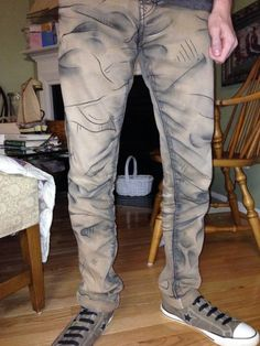 Pants crafted to look cel shaded