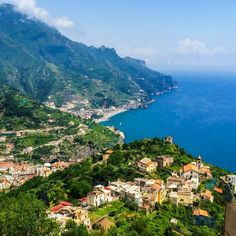 Visit the Amalfi Coast for some of the most brilliant, #unreal views of the coast and towns on it.