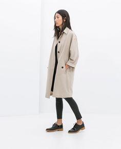 Image 1 de TRENCH FLUIDE de Zara Fashion Mode, Womens Fashion, Estilo Fitness, Inspiration Mode, Moda Fitness, Loose Fit, Outerwear Women, Autumn Winter Fashion, Autumn Coat