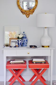 Style Within Reach: Decorating: The Audrey Lamp // Lulu  Georgia // entryway // x benches // Caitlin Moran // #decor