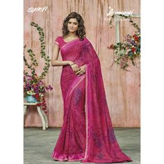 Find the Georgette #Saree in Pink with Satin Lace along with an un-stitched, Rawsilk blouse in Pink from #Laxmipatisarees. E-mail : info@laxmipati.com Mobile no : (+91) 93760 14032 (Call or Whatsapp)