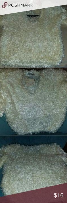 Fuzzy Sweater Fuzzy knit sweater Sweaters V-Necks