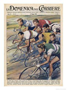 Riders in the Giro dItalia the Most Important Italian Cycle Race Lámina giclée por Walter Molini en AllPosters.es